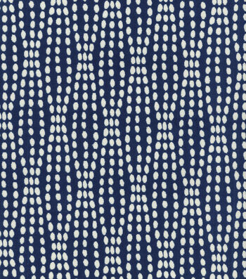 "Waverly Upholstery Fabric 54""-Strands Navy"