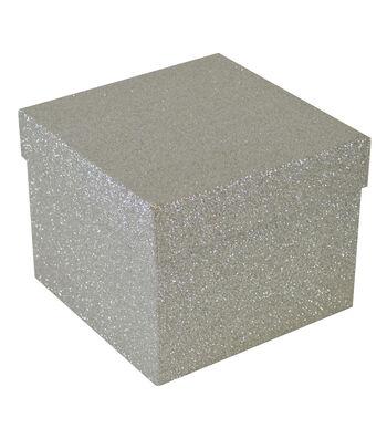 Maker's Holiday Large Square Flip Top Box-Metallic