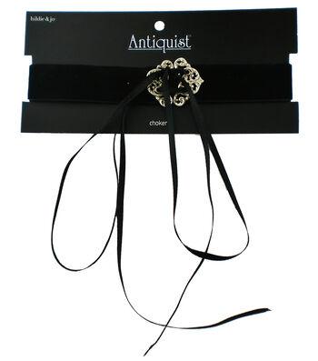 hildie & jo™ Antiquist Gold Soft Choker-Black