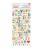American Crafts Shimelle True Stories Hipster Alpha Stickers, , hi-res