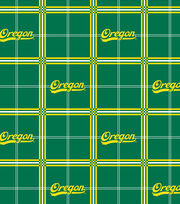 "University of Oregon Ducks Flannel Fabric 42""-Plaid, , hi-res"