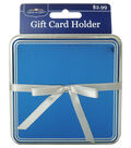 Blue With Silver Ribbon Gift Card Holder