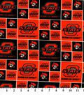 Oklahoma State Cowboys Cotton Fabric 43\u0022-Block