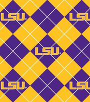 "Louisiana State University Tigers Fleece Fabric 58""-Argyle, , hi-res"