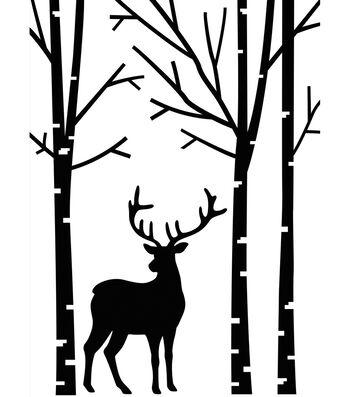 "Embossing Folder 4.2""X5.7""-Deer In Forest"