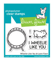 "Lawn Fawn Clear Stamps 3""X2""-Wheelie Like You, , hi-res"