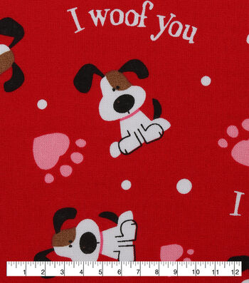 Holiday Inspirations™ Valentine's Day Utility Fabric 43''-Woof