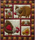 Wall Quilt Kit 13\u0022x15\u0022-Ham & Eggs