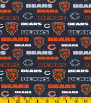 "Chicago Bears Cotton Fabric 58""-Glitter, , hi-res"