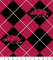 "University of Arkansas Razorbacks Fleece Fabric 58""-Argyle, , hi-res"