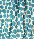 Genevieve Gorder Upholstery Fabric 54\u0027\u0027-Peacock Puffy Dotty