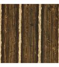 Franklin Dark Brown Rustic Pine Wood Wallpaper Sample