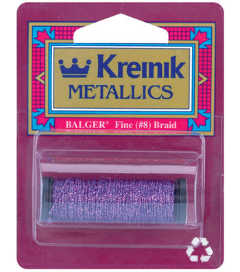 Kreinik Braid Metallic Thread Fine Size 8