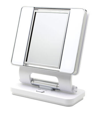 OttLite® 26W Dual Sided Makeup Mirror-White