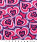 Blizzard Fleece Fabric 59\u0022-Pink Purple Hearts