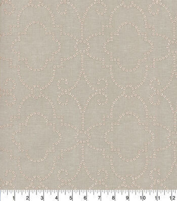 Dena Home Embroidered Upholstery Fabric 54''-Rose Gold Wow Factor