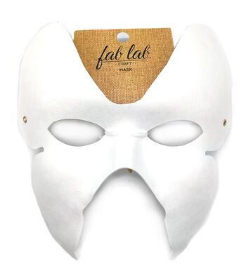 """Paper Butterfly Mask W/Elastic Cord 7""""X6.5"""" 1/Pkg-White"""