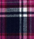 Cotton Flannel Shirting Fabric 41\u0022-Pink & Navy