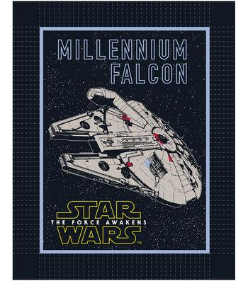 "Star Wars™ VII No Sew Fleece Throw 48""-The Force Awakens Millennium Falcon"