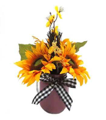 Purple Glass Sunflower Arrangement
