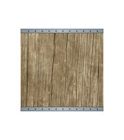 Fab Lab™ 12''x12'' Wood Sign with Galvanized Ends, , hi-res