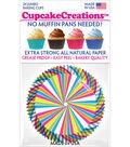 Cupcake Creations 24 Pack 2.5\u0027\u0027 Jumbo Baking Cups-Rainbow Swirl