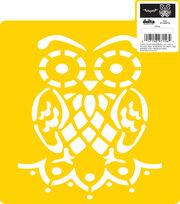 "Delta Stencil Mania™ 7""x10"" Stencil-Owl, , hi-res"