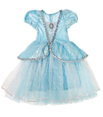 Fashion & Fluff™ Blue Silver Princess Dress