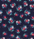 Buttercream Poppy Cotton Fabric-Ditsy Floral Navy