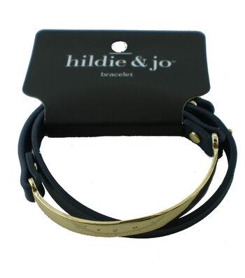 hildie & jo™ Wrap Bracelet-Gold & Navy