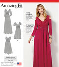 Simplicity Patterns Us1102Aa-Simplicity Misses& Plus Size Amazing Fit Dress In Knit-10-12-14-16-18
