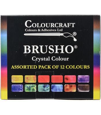 Colourcraft 12ct Brusho Crystal Colors Set