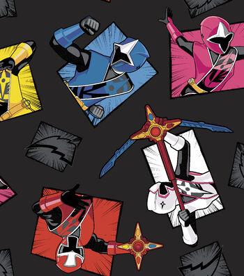 "Power Rangers Fleece Fabric 59""-Morphin Time"