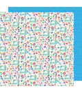 American Crafts Sunshine & Good Times 12\u0027\u0027x12\u0027\u0027 Cardstock-Sew Fun