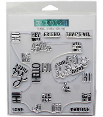 "Concord & 9th Clear Stamps 6""X6""-Oh, Hello Turnabout"