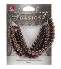 Jewelry Basics Glass Round Beads 6mm 100/Pkg-Metallic Brown
