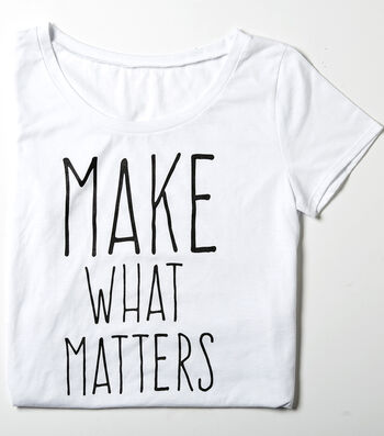 T-Shirt L/XL-Make What Matters on White