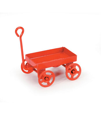 Darice Timeless Miniatures Wood Wagon Red
