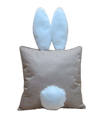 Easter Burlap Pillow with Bunny Ears