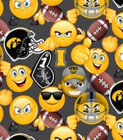 "University of Iowa Hawkeyes Cotton Fabric 43""-Emoji, , hi-res"