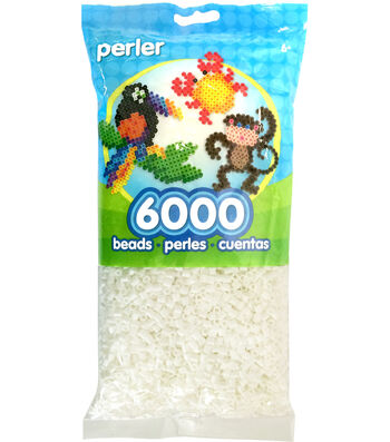 Perler Beads 6,000 Count-White