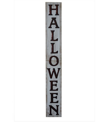 Maker's Halloween Wood Porch Sign-Halloween on White