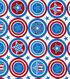 Patriotic Fabric-Starget White