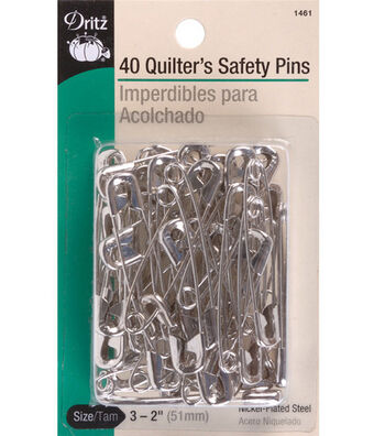 Prym Dritz Quilter's Safety Pins Nickel