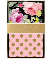 Anna Griffin Grace Black Floral 24 Count Note Cards, , hi-res
