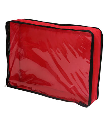 Tree Skirt Storage Container with Clear Window