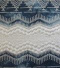 Sportswear Denim Fabric-Tie Dye Embroidered Border