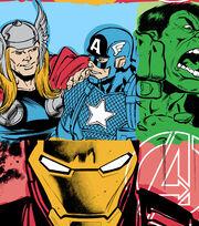 Marvel Comics Avengers Fleece Fabric 59''-Line Work, , hi-res