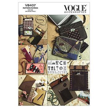 Vogue Pattern V8407 Crafts Totes & Bag