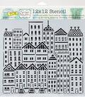 Crafter\u0027s Workshop Carmen Medlin Template 12\u0027\u0027x12\u0027\u0027-City Buildings